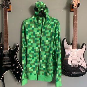 Minecraft creeper costume hoodie